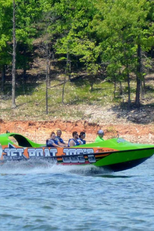 jet boat tour in Broken Bow, OK